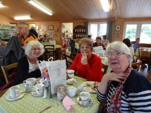 Dilys, Chris and Jean enjoying a lovely lunch
