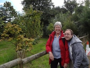 Sylvia and James by the medlar tree