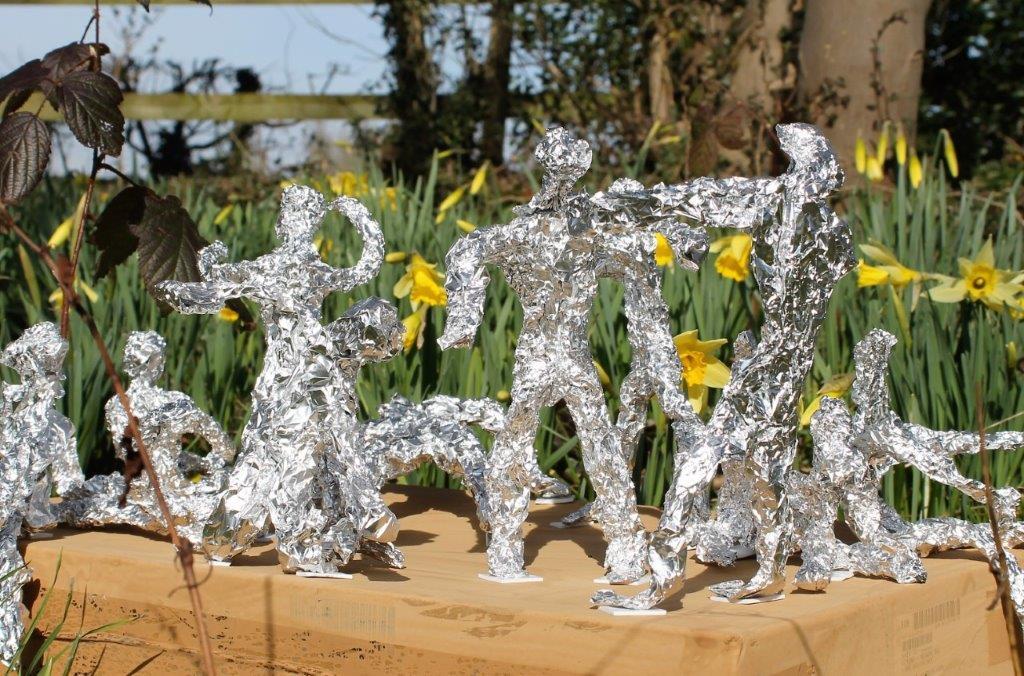 Aluminium Sculpture in woodland