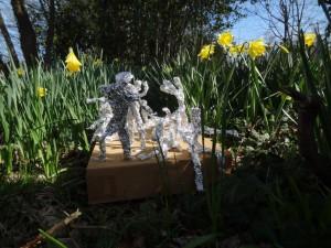 silver foil sculptures