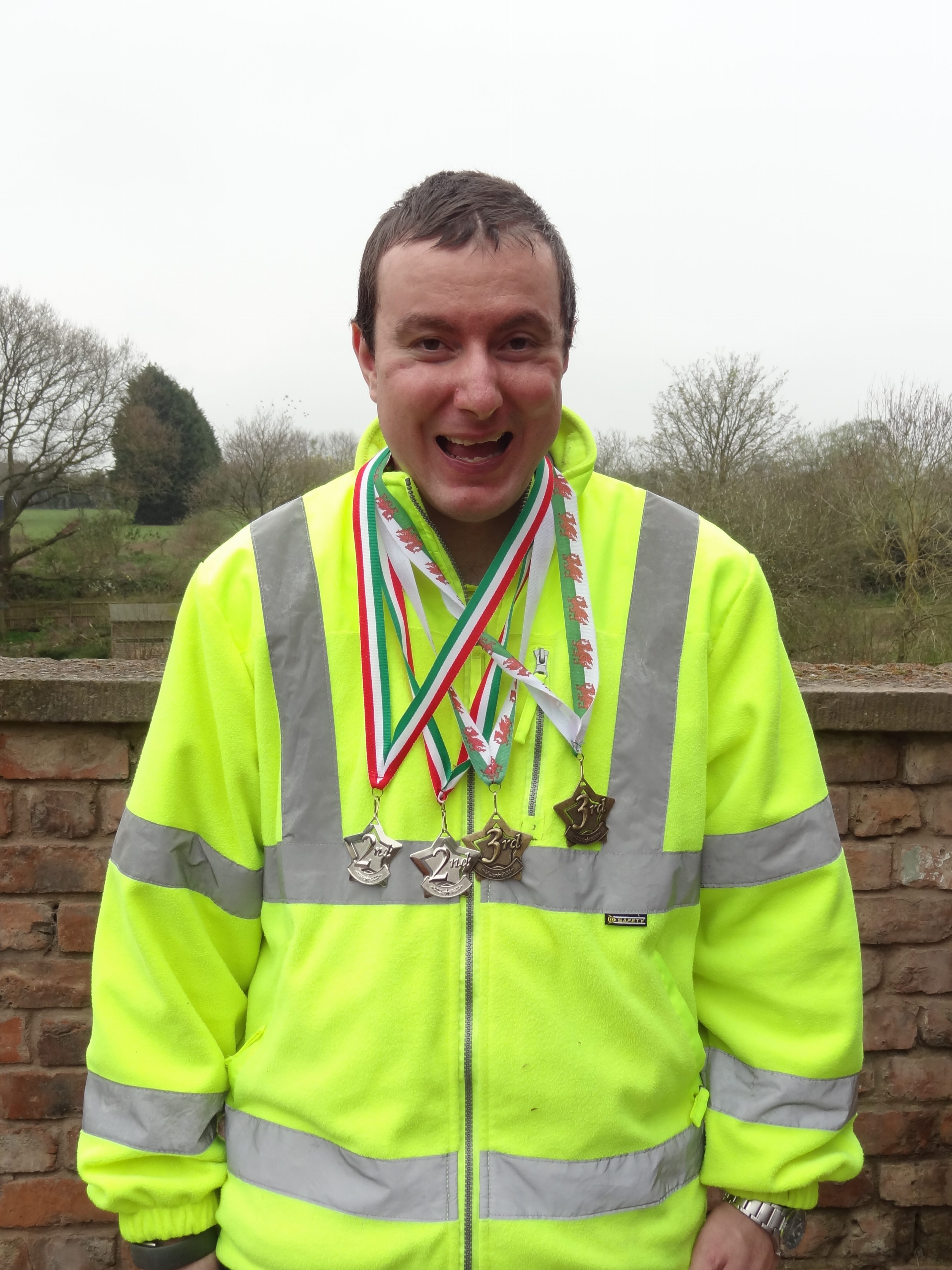Damon wins medals at Cardiff Athletics Event
