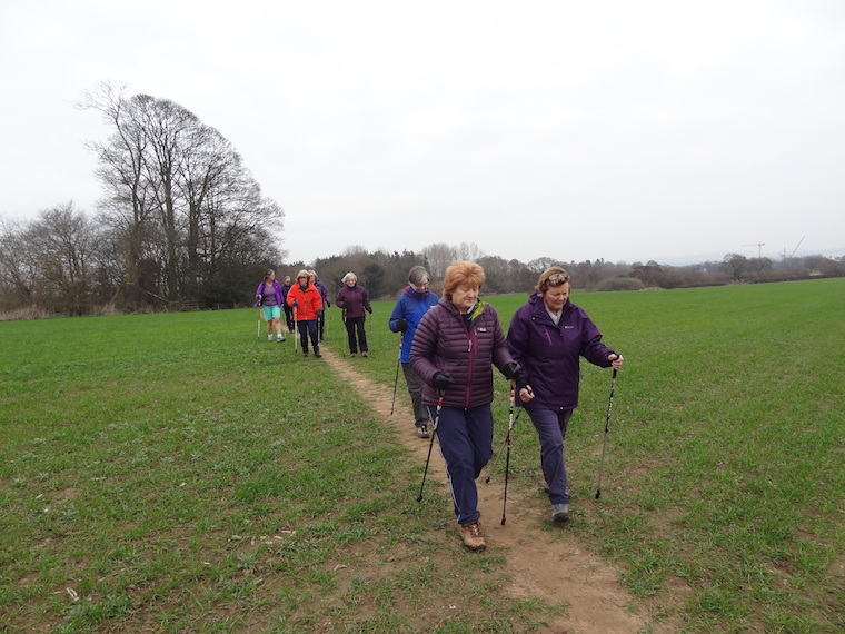 Visit by the Erddig Nordic Walking Group