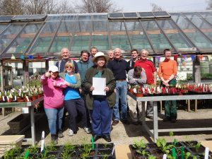 On the Thursday of the plant sale, and the sales team are looking very proud!