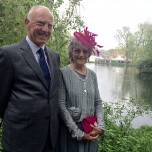 Geoff and Alison at Buckingham Palace. Garden Party. 10th May 2016