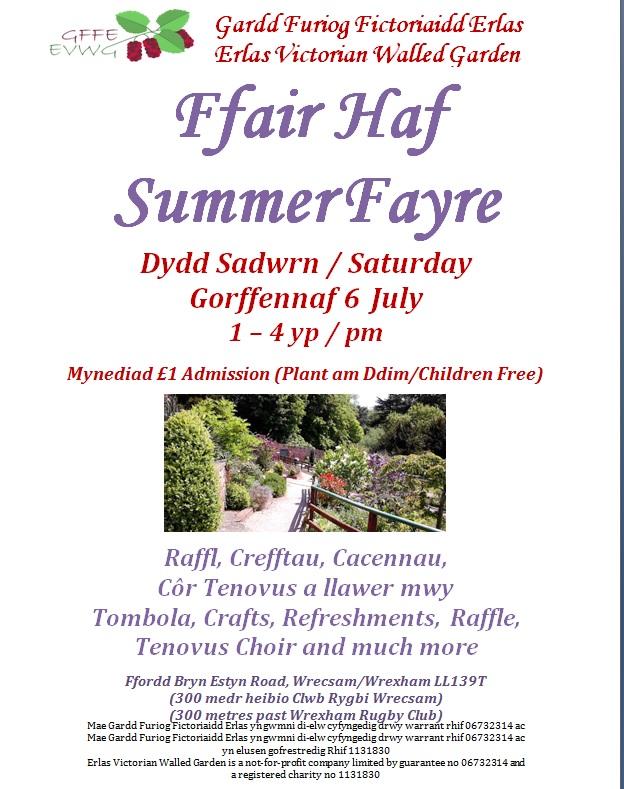 Summer Fayre – Saturday 6th July 2019
