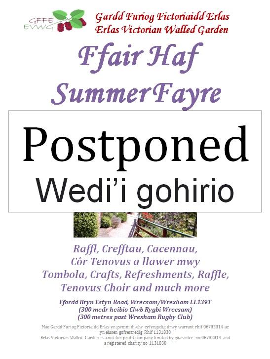 Summer Fayre 2019 – Postponed